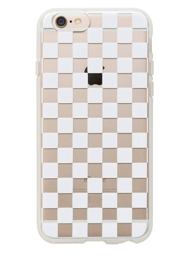 Rifle Paper Co. Clear Checkers iPhone 6 Kılıf Renkli